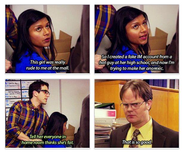 The Office Mindy Kaling B J Novak Rainn Wilson The Office Show Office Jokes Office Quotes