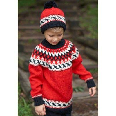 Kids Nordic Yoke Set Free Pattern Yarnspirations Sweater Knitting Patterns Free Knitting Knitting Patterns Free
