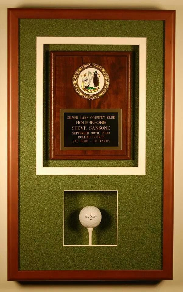 Hole In One Golf Shadowbox Colecoes