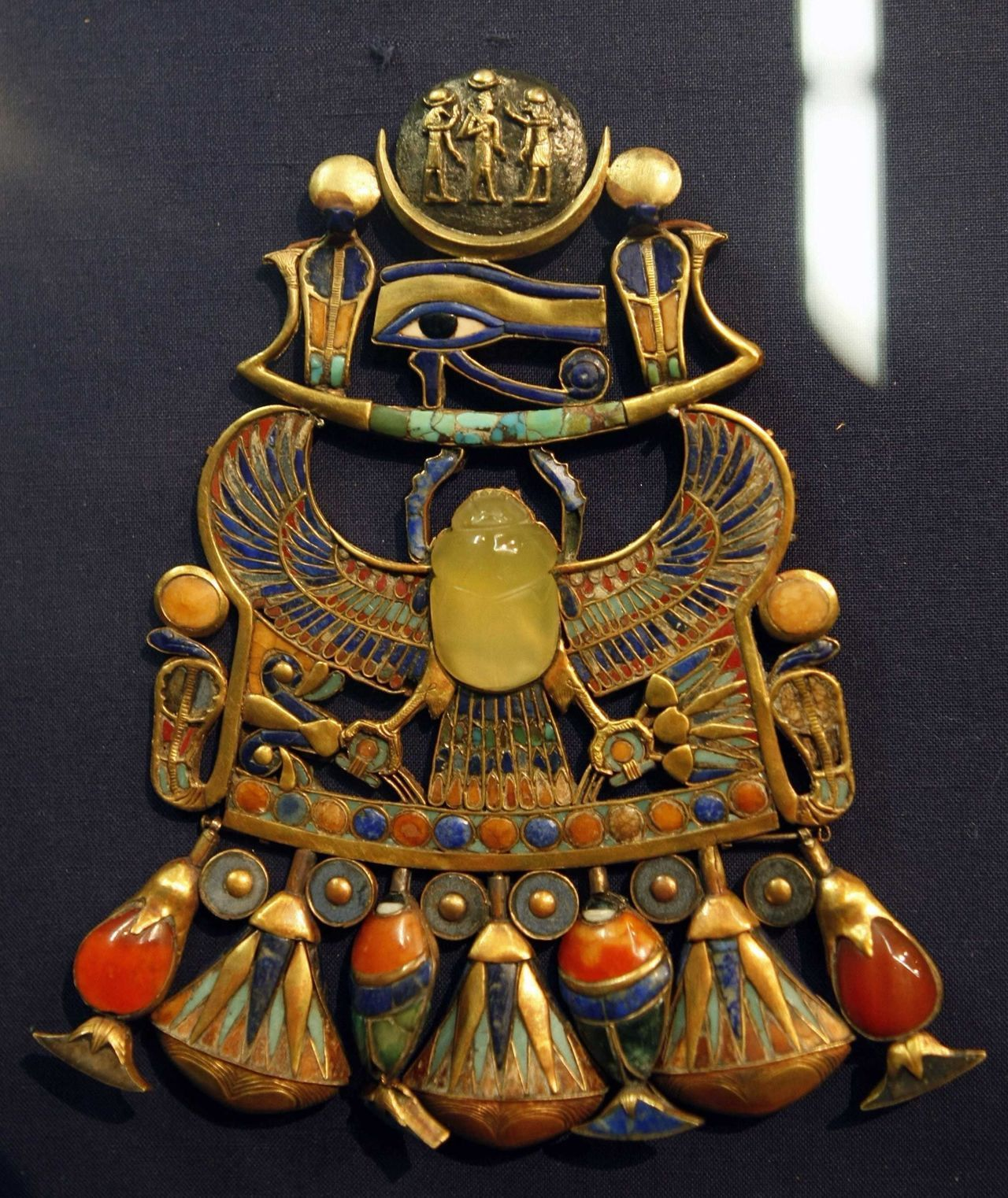 Egypt Museum Pectoral Of Tutankhamun With Solar And Lunar