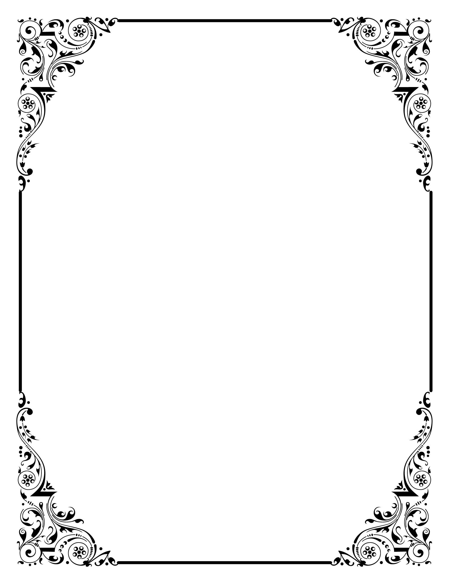 tea party cover border - Google Search | BLACK AND WHITE BORDERS FOR ...