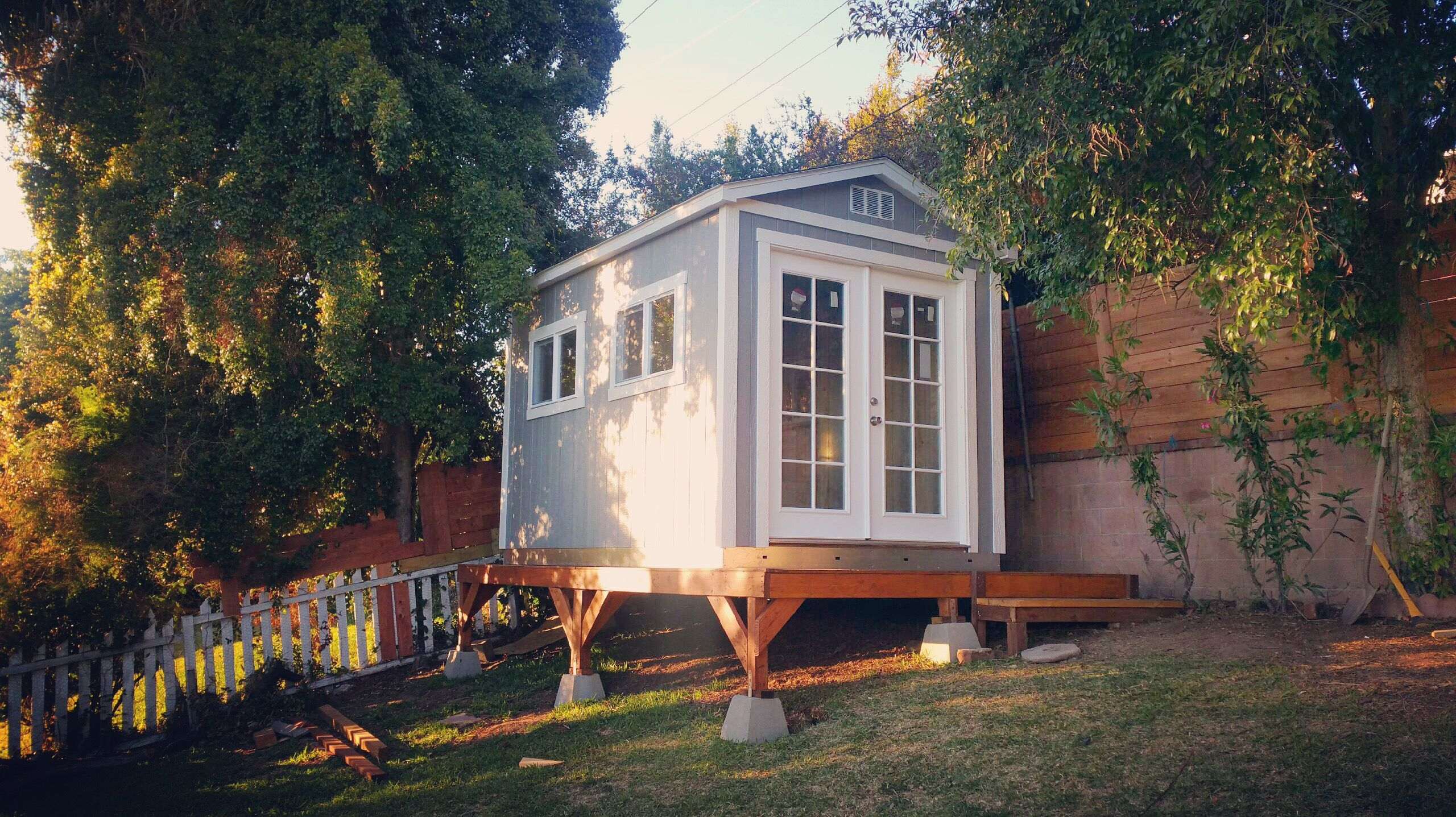 This tuff shed makes the perfect playhouse or she shed for Prefab she shed