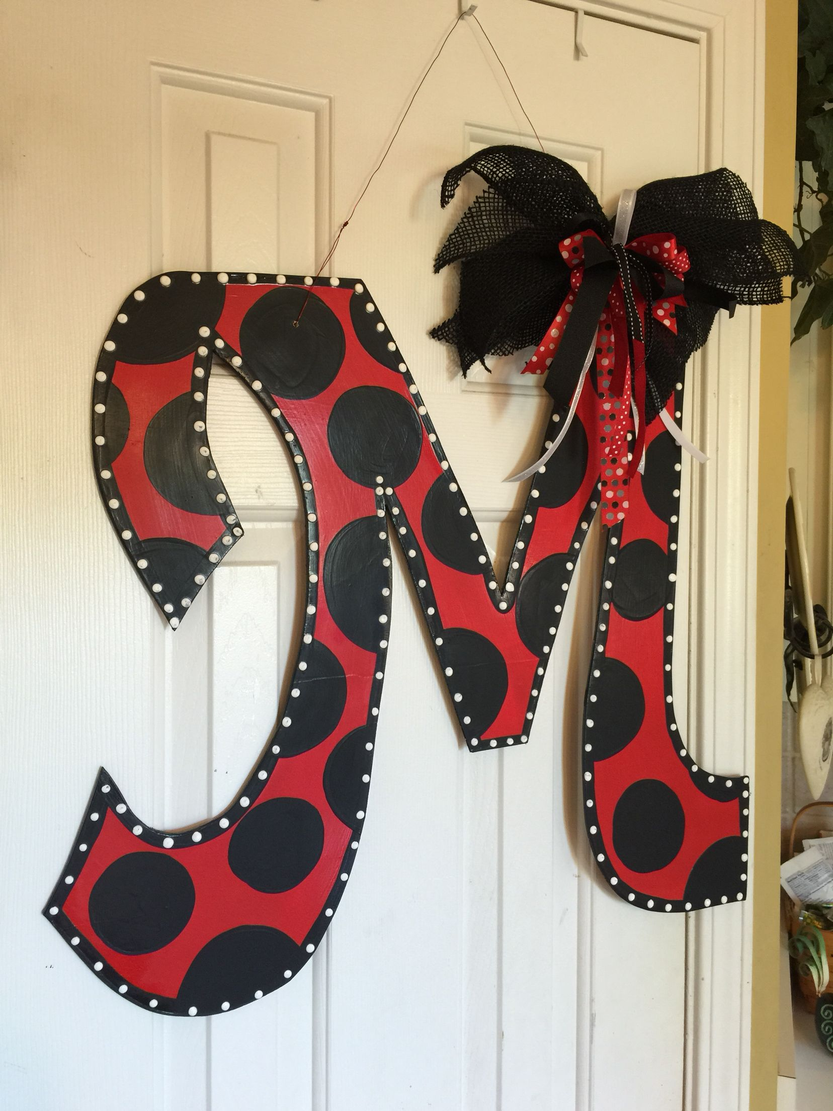 Initial M Wooden Door Hanger Door Hanger Ideas