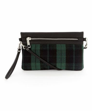 Another great find on #zulily! Green & Black Plaid Convertible Wristlet #zulilyfinds