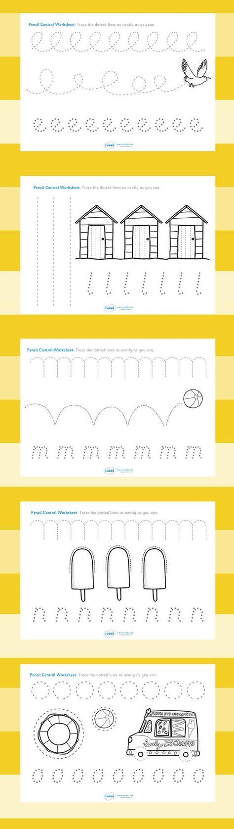Free Line Handwriting Worksheets Preschool Freebie Printable