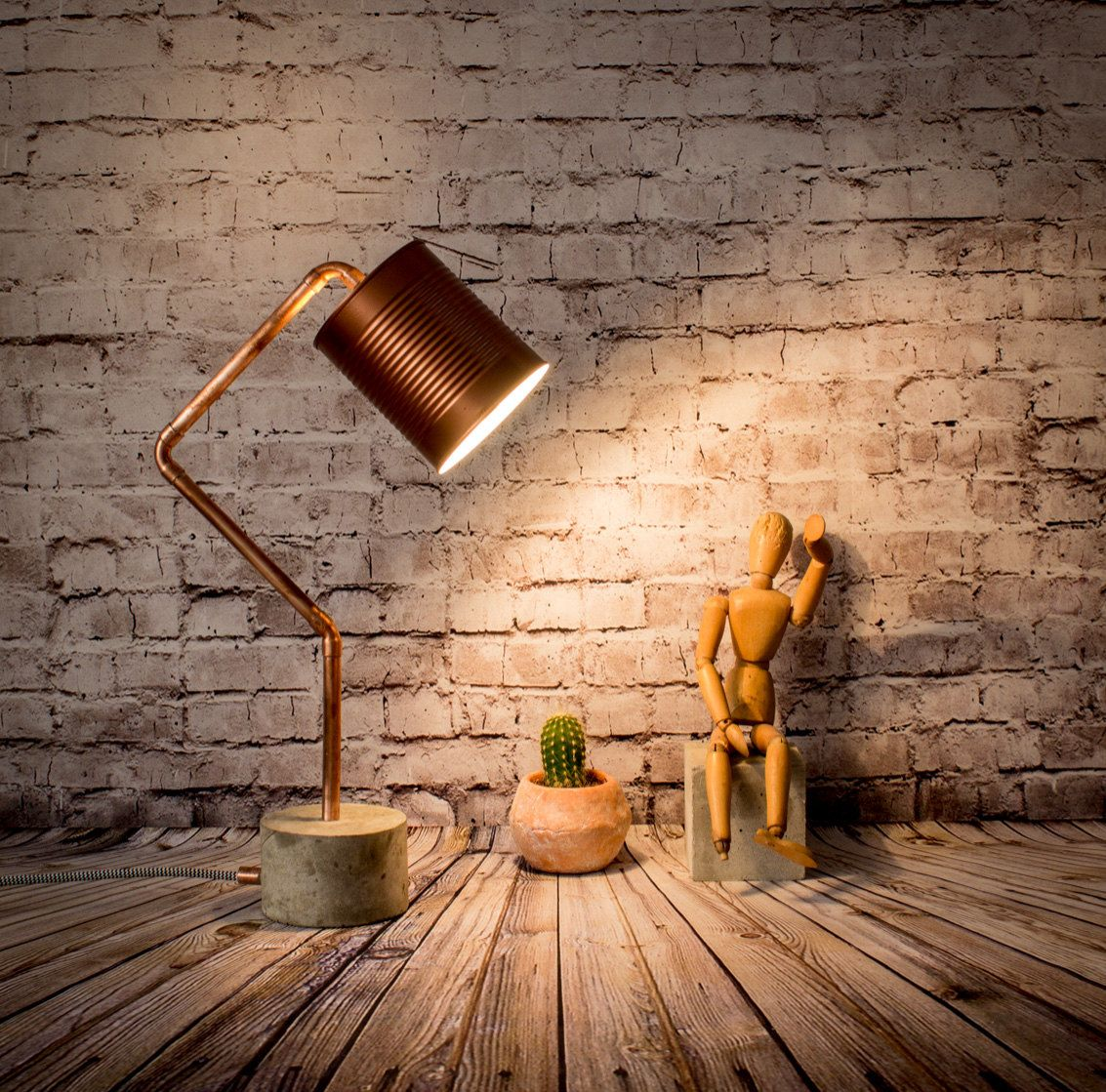 Lampe Kupfer Industrial Copper Desk Lamp Concrete Desk Lamp Desk Lamp Copper