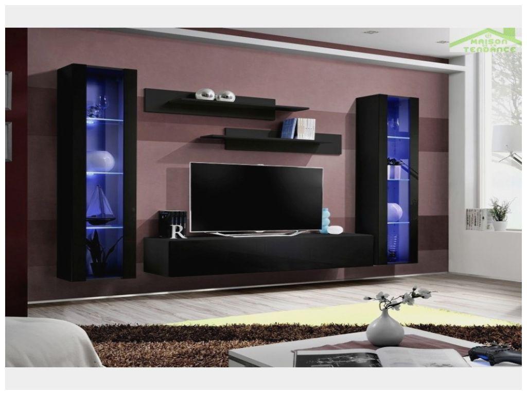Luxe Ensemble Meuble Tv Avec Led Dekorasi Rumah Dapur Mewah Desain Interior