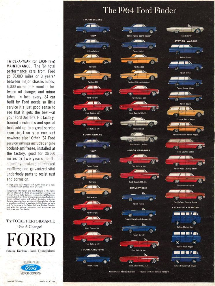 12 Jpg 745 992 Pixels 1964 Fords 1964 Ford Car Brochure Ford