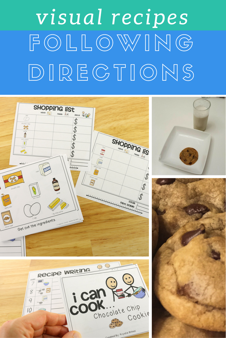 Chocolate Chip Cookies Are Everyone S Favorite Teach Your Special Education Students How To Visual Recipes Cooking In The Classroom Special Education Writing