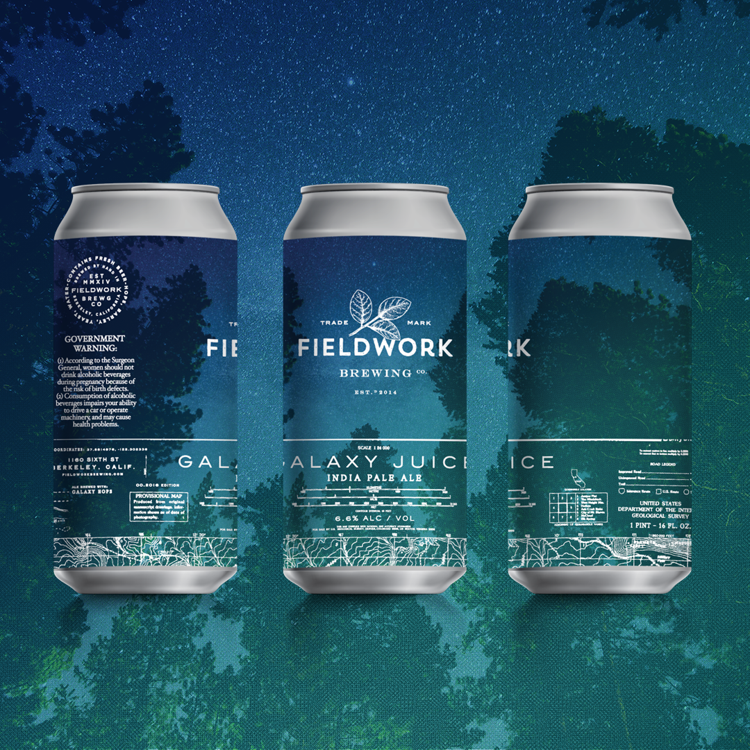 Can label design for Fieldwork Brewing Co - Galaxy Juice IPA ...