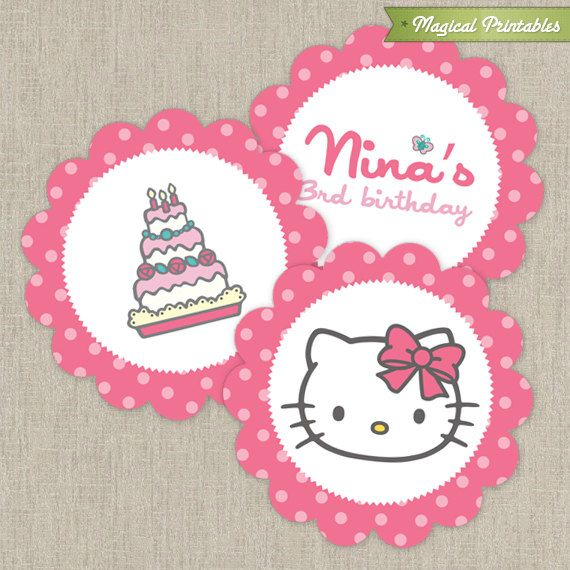 Hello kitty printable birthday 2 in labels fiestas infantiles hello kitty printable birthday 2 in labels stopboris Image collections