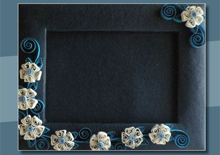 Quilling Designs For Frames A delicate quilled design