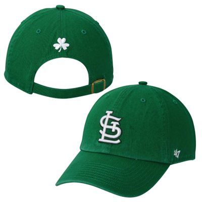 the best attitude 08f1e 90f33 St. Louis Cardinals  47 Brand Cloverback Spring Training Cleanup Adjustable  Hat – Kelly Green