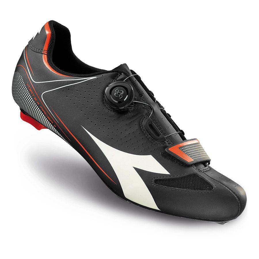 Chaussures Diadora VORTEX RACER II noir blanc vert fluo