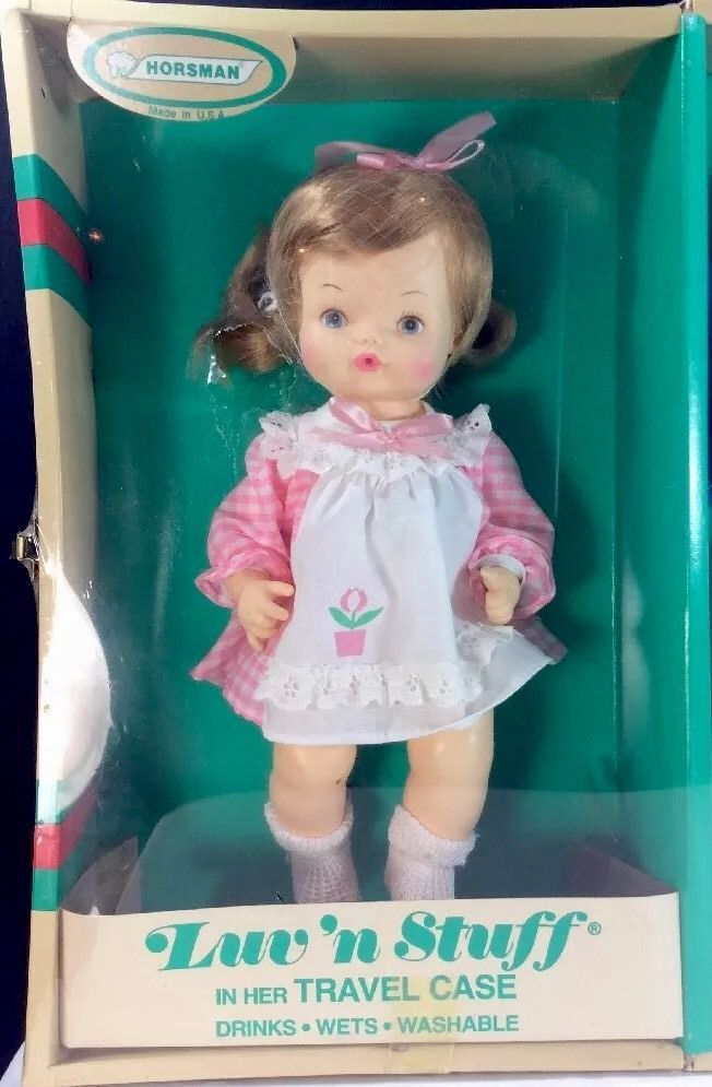 Lov'n Stuff In Travel Case Horsman Drink And Wet Doll 12 In USA 1983-85 3 Outfit #Horsman #DollswithClothingAccessories