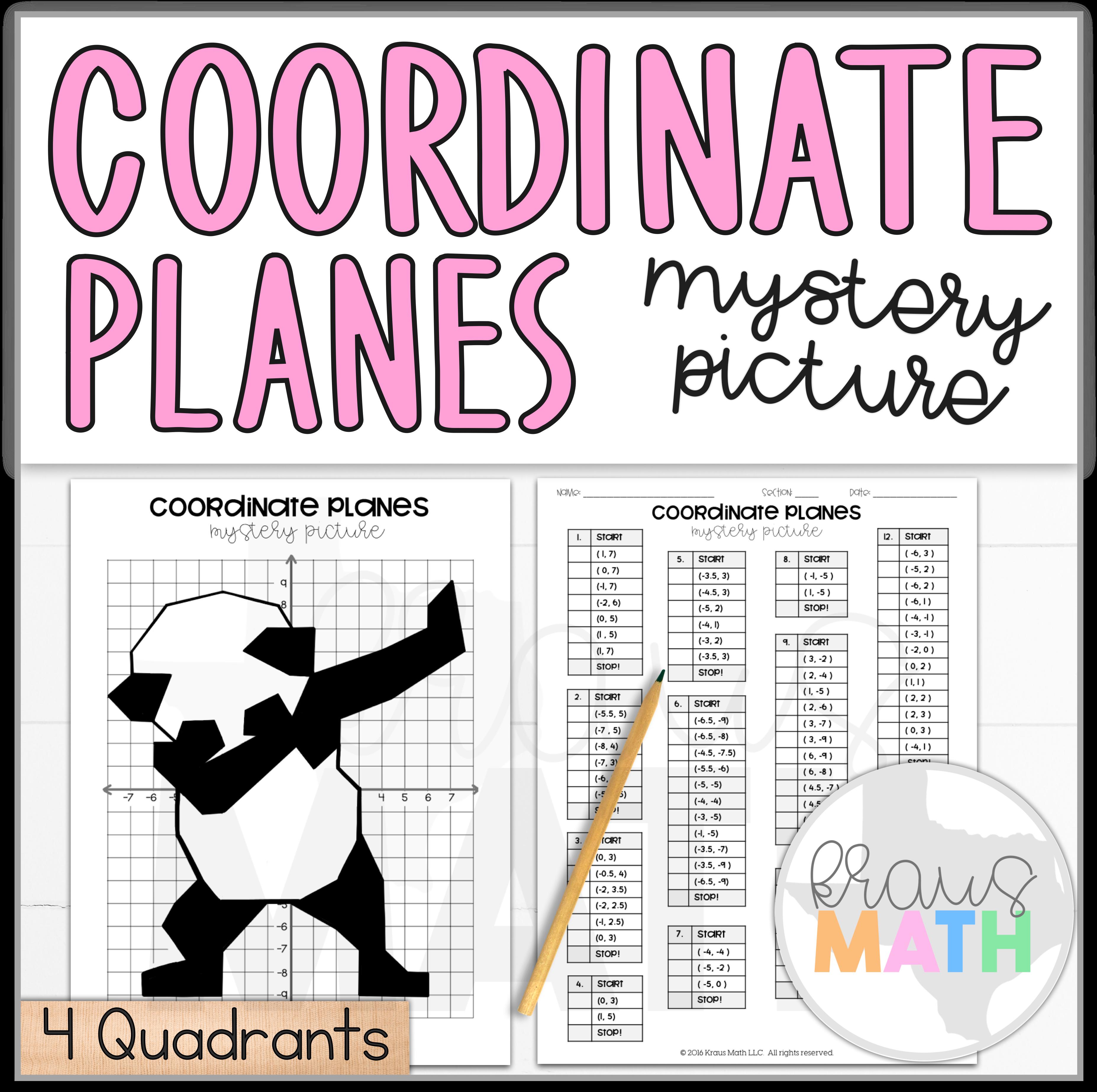 Panda Dab Coordinate Planes Activity 4 Quadrants