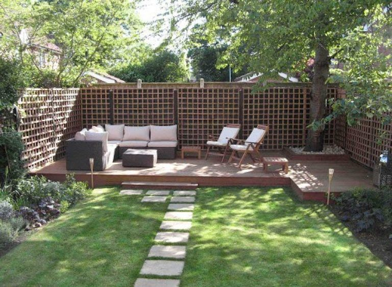 Small Deck Designs Backyard Closed Small Yard Design With A Central Stunning Backyard Designs Images Model
