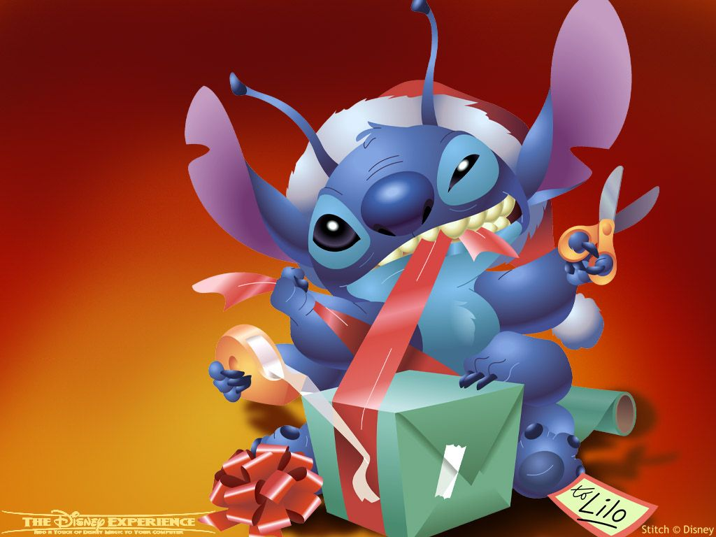 Lilo And Stitch Christmas Cartoon Image Wallpaper For