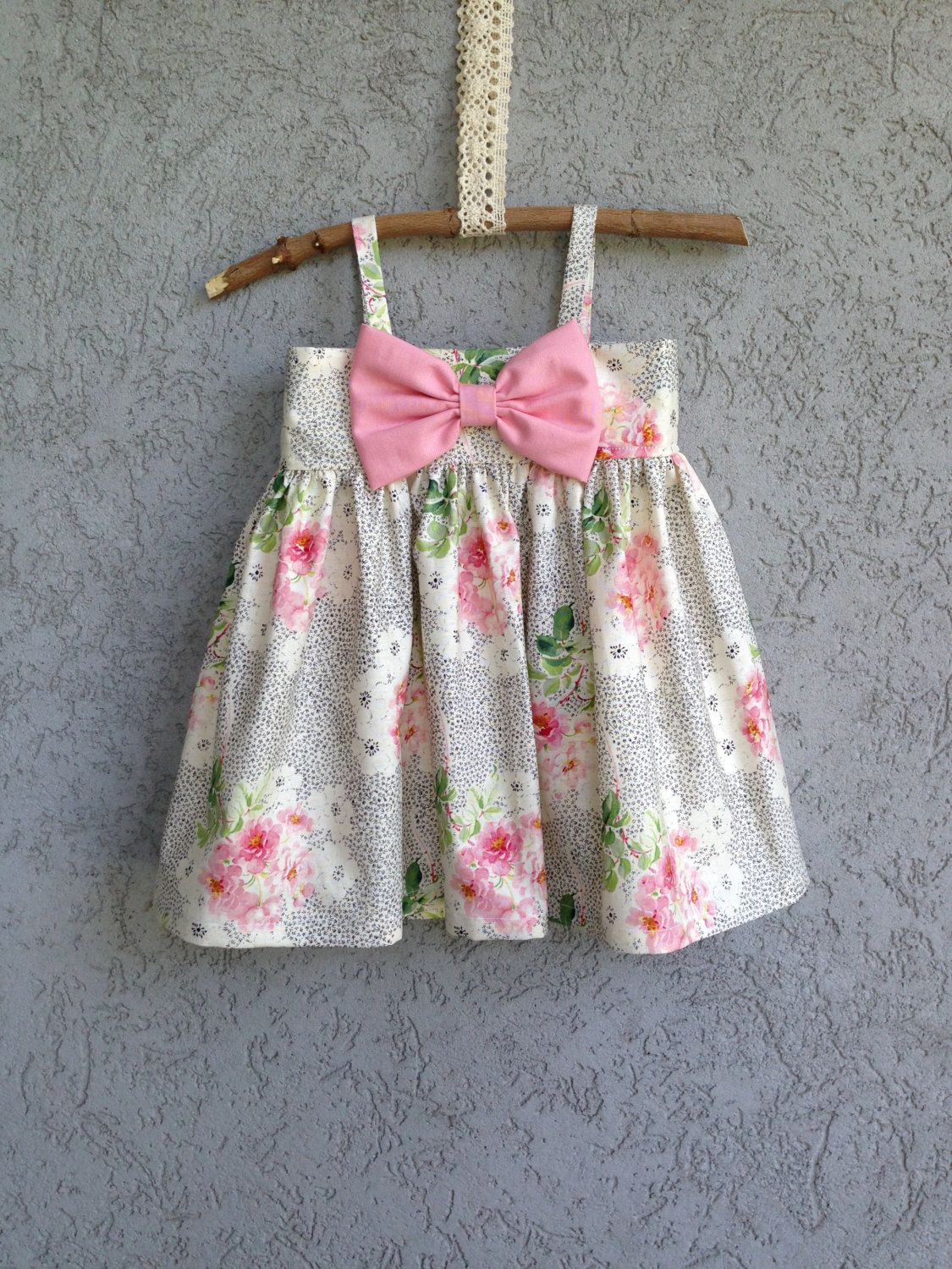 Pink dress baby  Black and White with Pink Floral and a Pink by dreamcatcherbaby