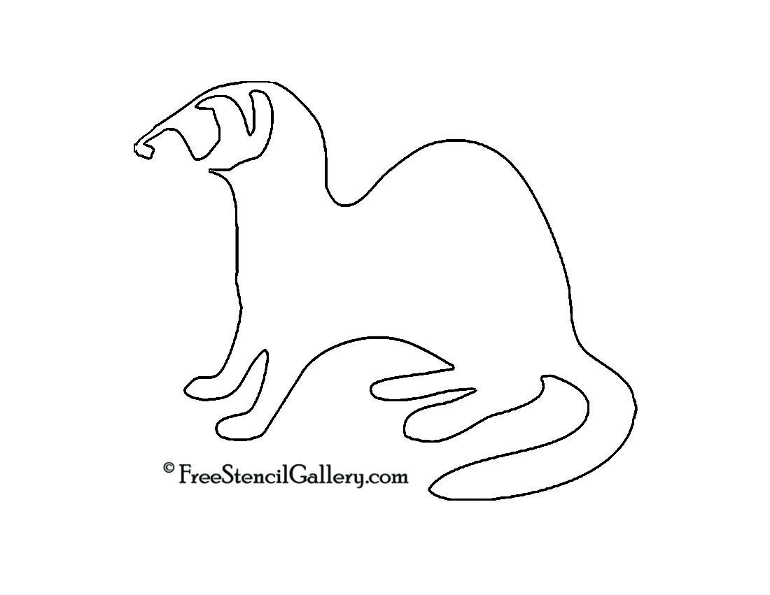 Ferret Silhouette Stencil With Images Silhouette Stencil