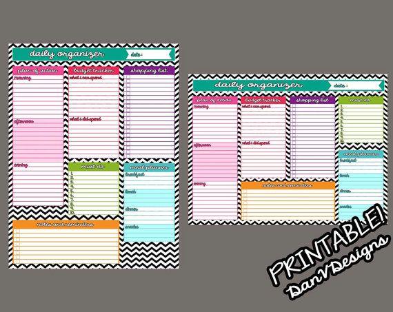 Custom Daily Organizer For An Erin Condren Planner Planner - Custom daily planner