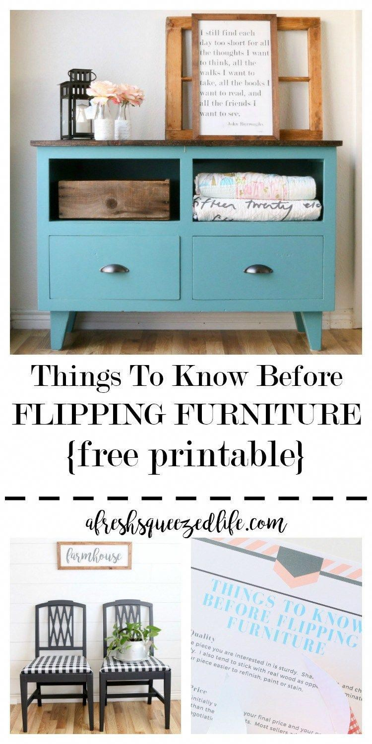 Flipping furniture is a fun DIY idea for turning an old