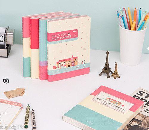 Hello Coco Study Planner Ver 2 Diary Journal Scheduler Organizer Agenda Kawaii | eBay