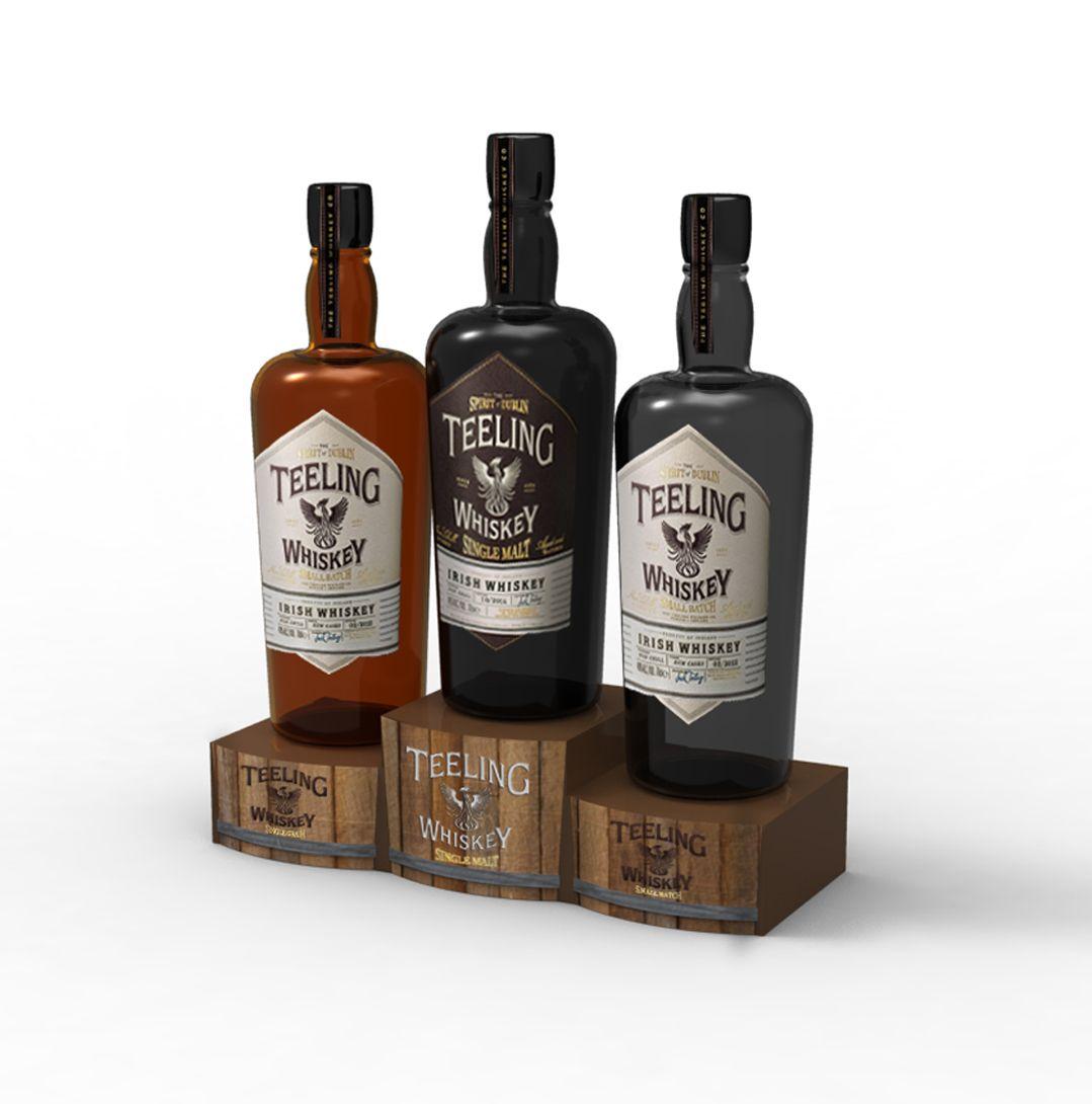 03e997886 Teeling Whiskey    Bar Counter Top Promotional Liquor Display ...