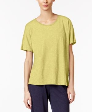 Eileen Fisher Hemp-Organic Cotton T-Shirt - Green XXS