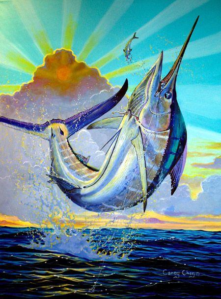 Marlin (With images) Marine art, Fish art, Marlin