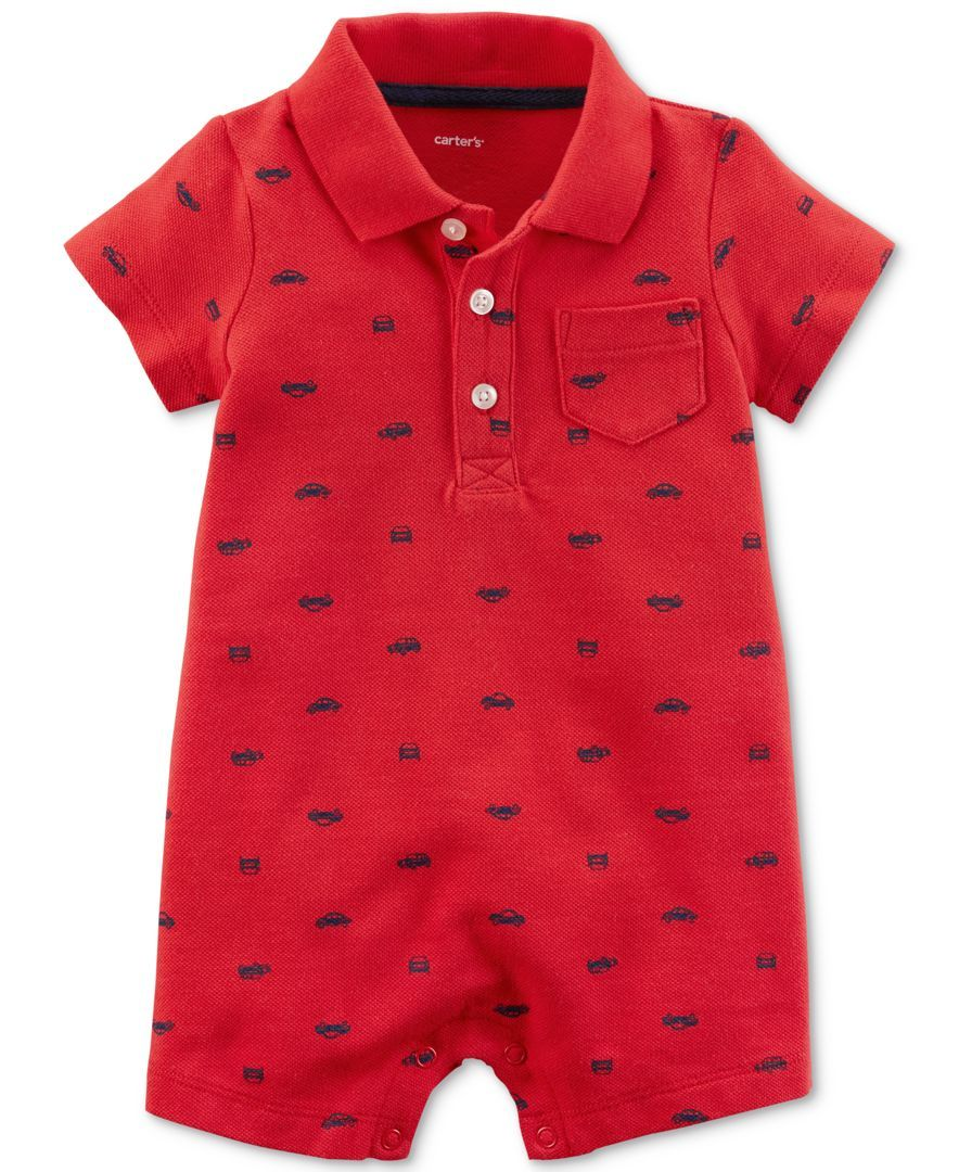 213639fdbd6b Carter s uses a polo-style collar and front button placket to ...