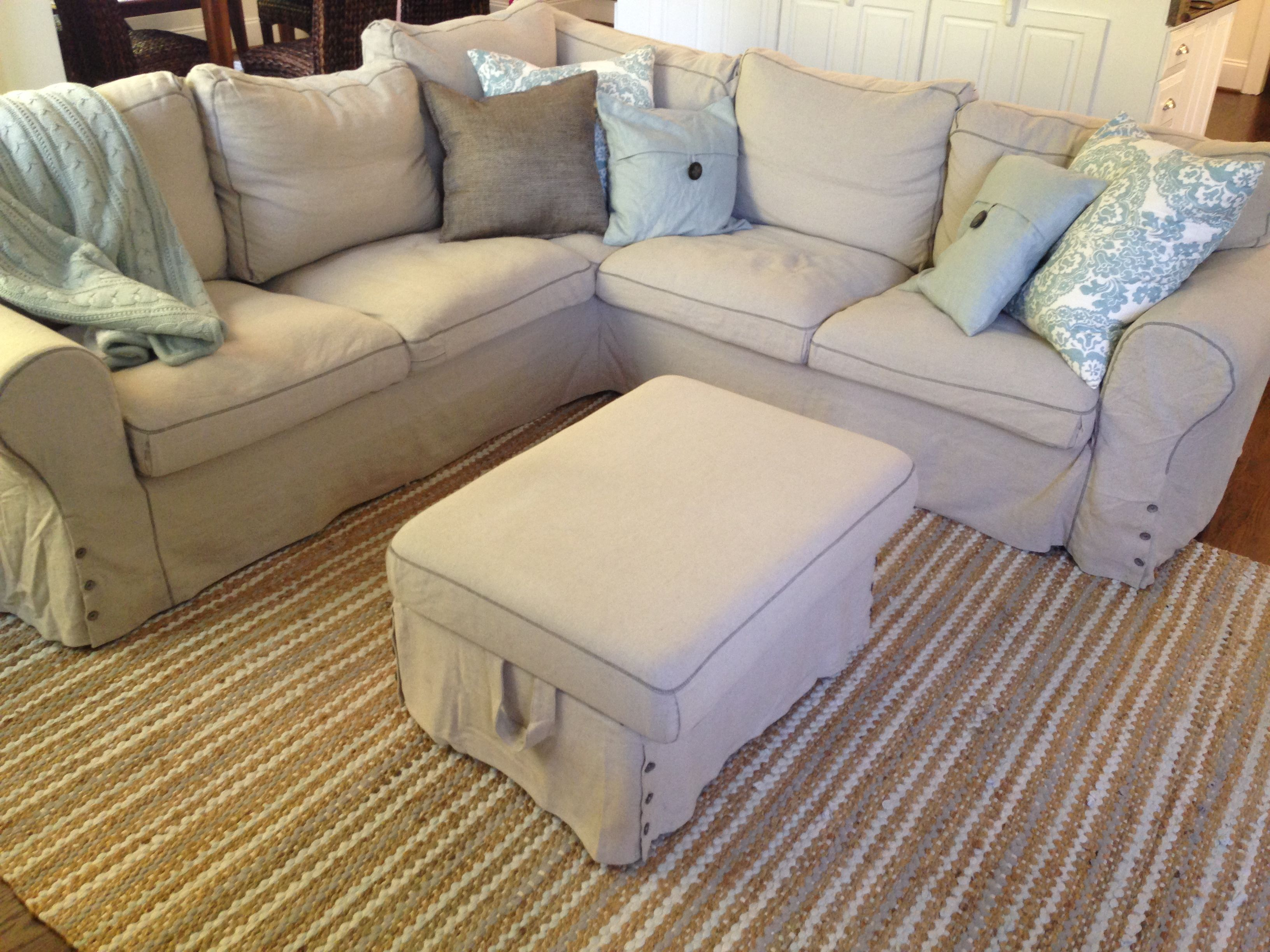 Ikea Ektorp Sectional In Risane Natural The Cover Is Removable