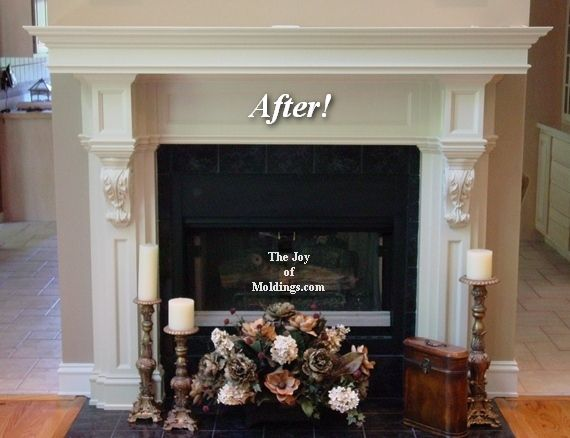 Diy Fireplace Mantel With Corbels
