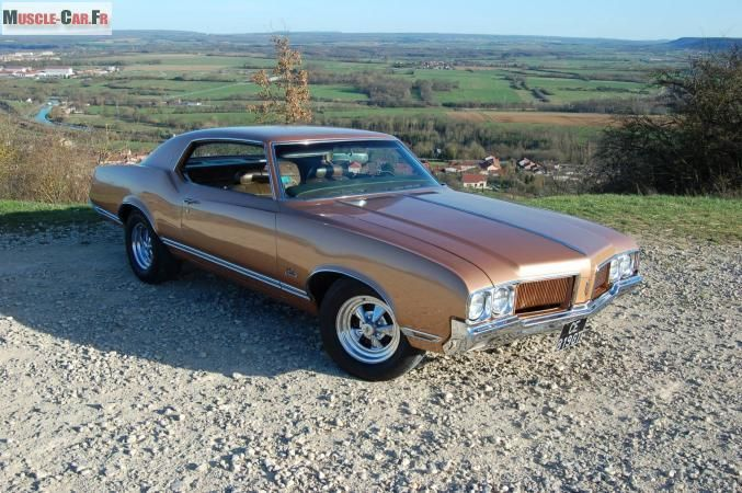 Coupe Oldsmobile Cutlass Marron Metal Http Www Muscle Car Fr