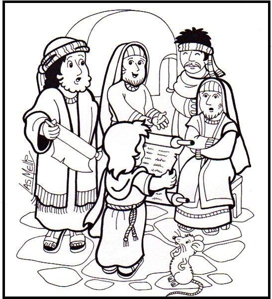 Infanzia di ges disegno da colorare scuola pinterest - Libero clipart storie della bibbia ...