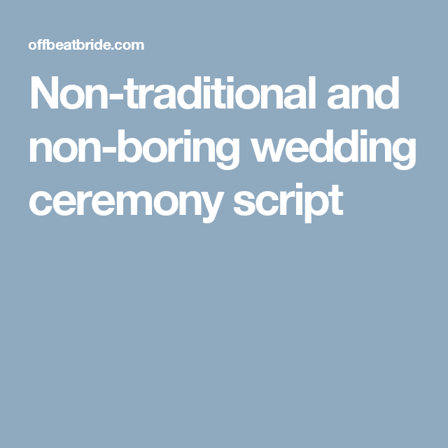 Order Of Speeches At A Wedding: Pin On Wedding Ceremony Script