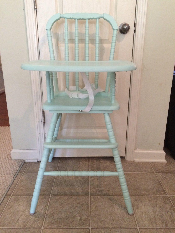 78f321da0cb4 Vintage Wooden High Chair