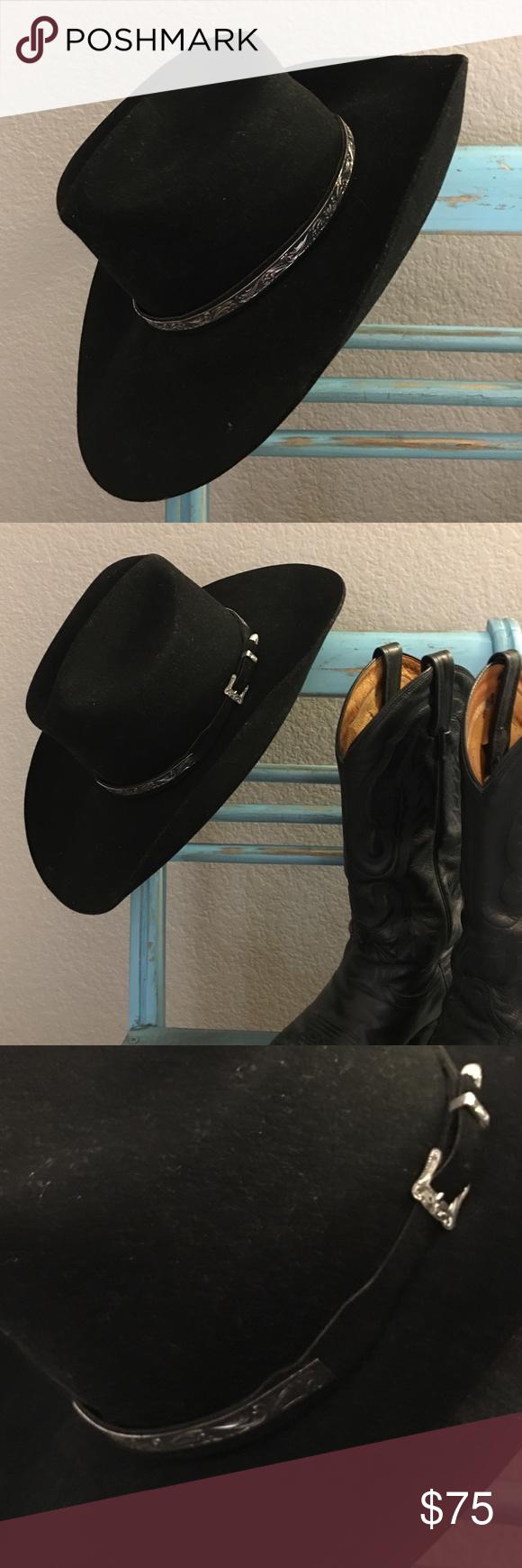 ac5d6d2a7fc99b XX Fur Blend Cowboy Hat🎀 Stunning black cowboy hat