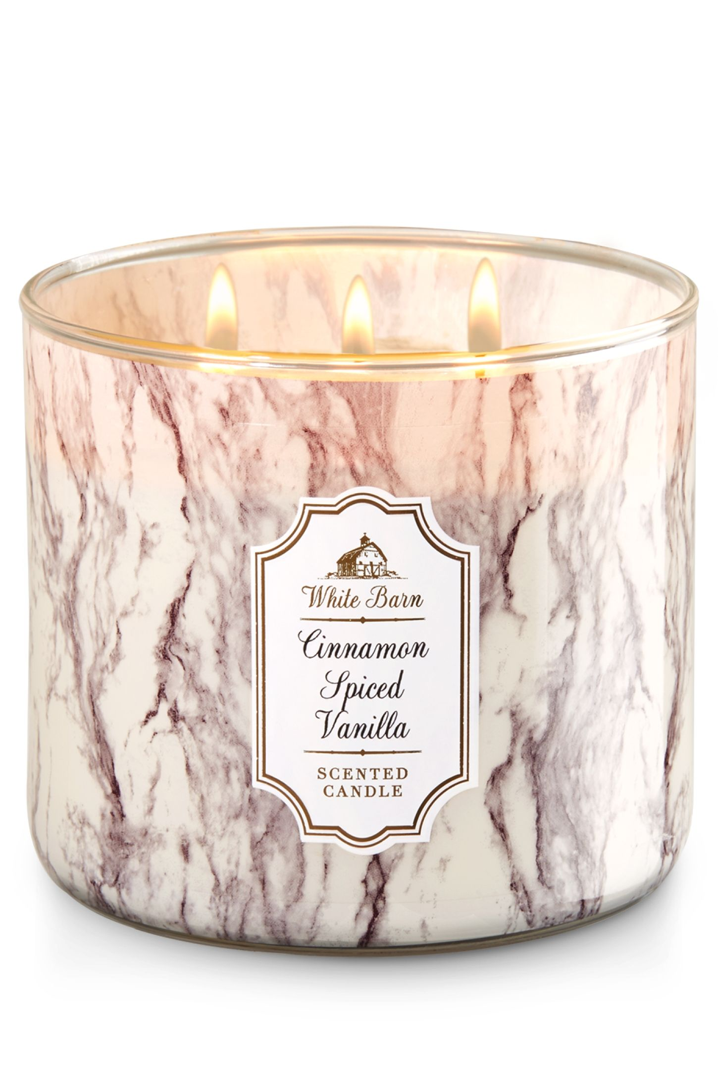 cinnamon spice vanilla 3 wick candle home fragrance 1037181 bath body works shopping. Black Bedroom Furniture Sets. Home Design Ideas