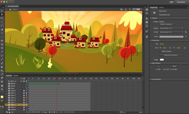 How to Use the Vector Brush Feature in Adobe Animate CC | Adobe ...