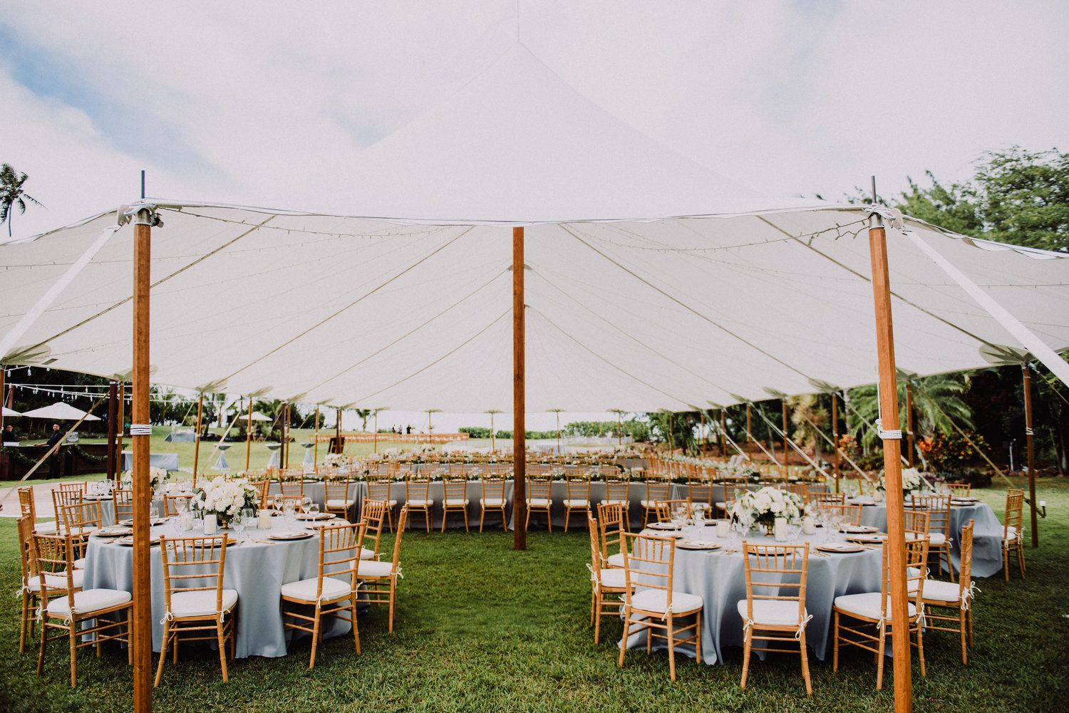 Natural Simple Wedding Tent Decor For An Oahu Based Wedding By Moana