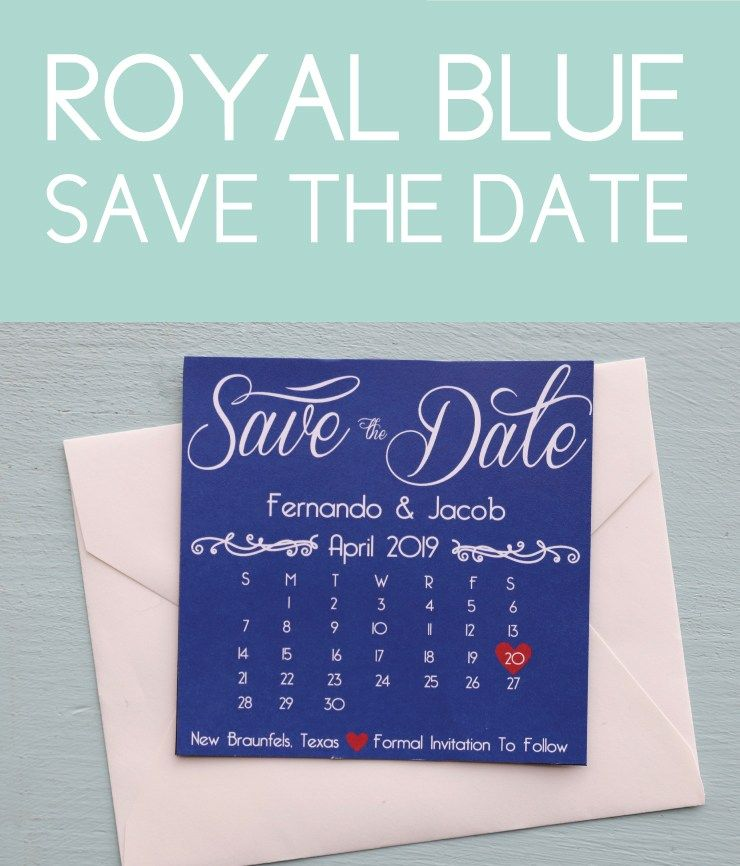 Royal Blue Save The Date Discover Unique Wedding Themes To Make Your Day Perfect