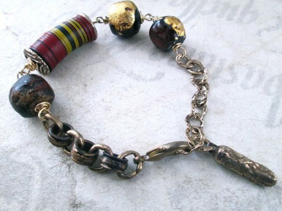 SHABA KIPANDE Modern Tribal Primitive Bronze Bracelet