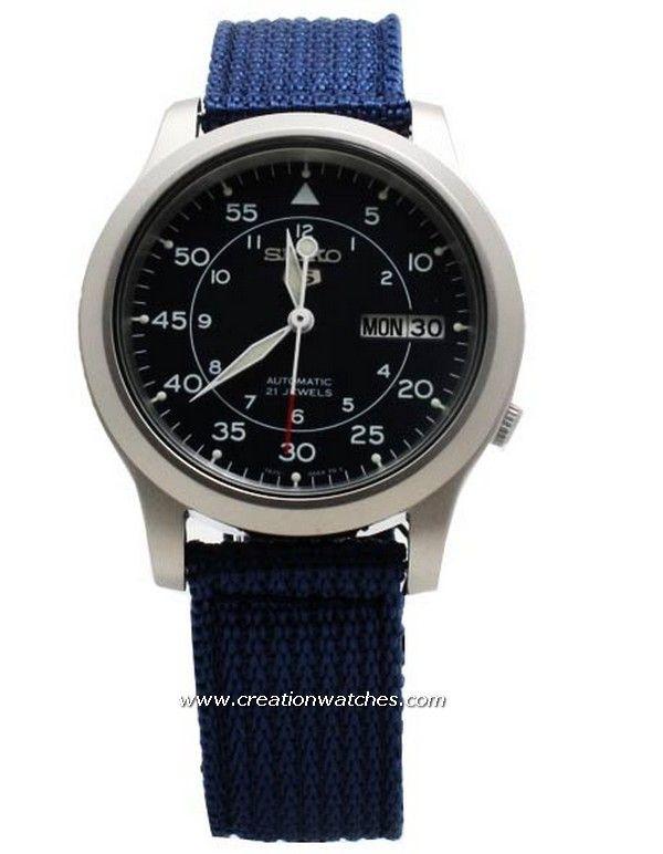 Seiko 5 Military Automatic Nylon mens watch SNK807K2 SNK807