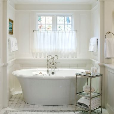 Window Treatments Over Tub Design Ideas Pictures Remodel And Decor Cottage Bathroom Bathrooms Remodel Bathroom Window Treatments
