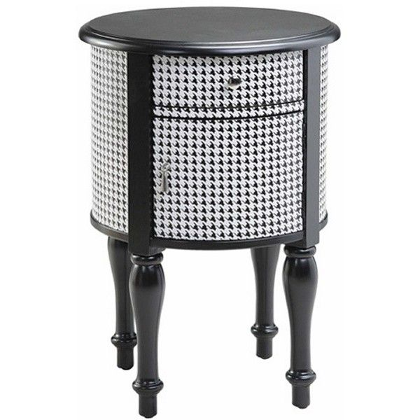 Houndstooth 1 Drawer Nightstand (375 CNY) found on Polyvore