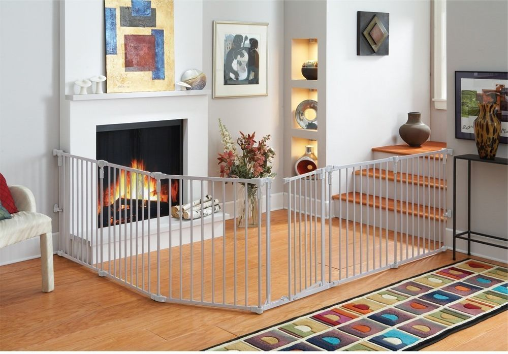 Baby Safety Gate Metal Pet Toddler Dog Extra Wide Playard Indoor ...
