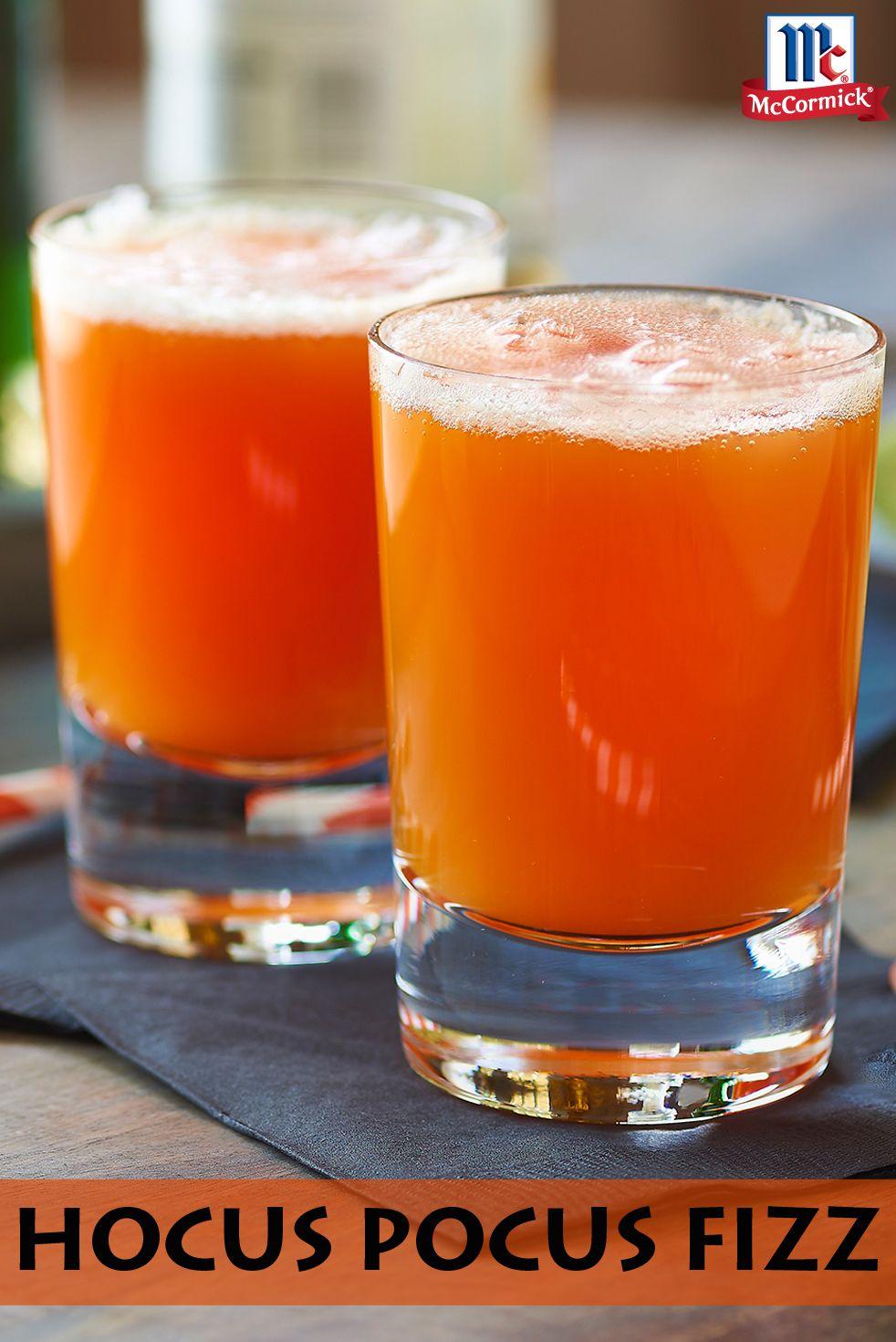 Orange Hocus Pocus Fizz Recipe Halloween food for