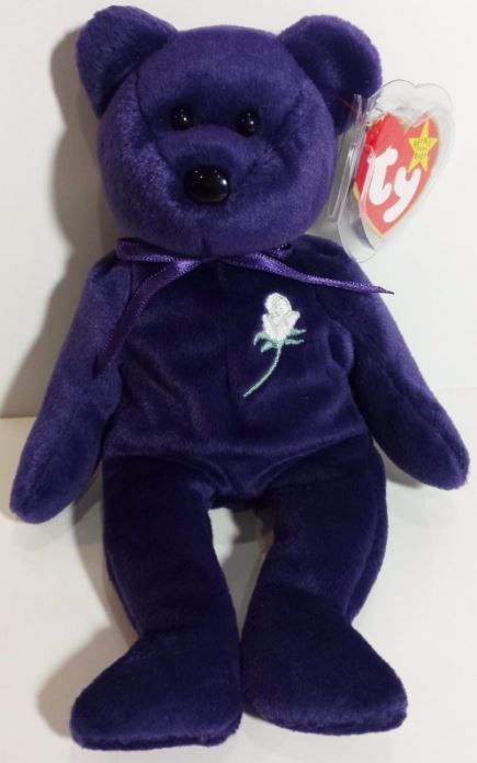c6c1c8d5ac1 VERY RARE PRINCESS DIANA 1st Edition Beanie Baby MINT CONDITION! PVC PELLETS!!!   Ty