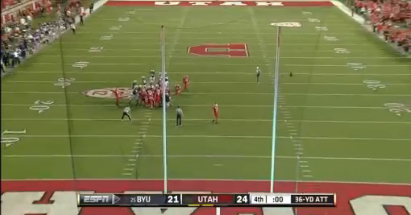 Holy War: BYU comeback ends with a doink